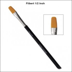 "1/2"" GLOBAL ACRYLIC BRUSH FILBERT"