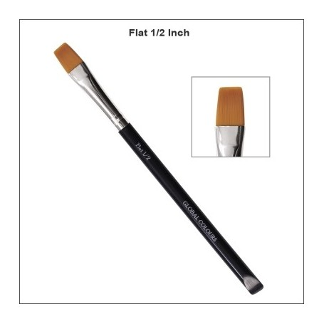 "1/2"" GLOBAL ACRYLIC BRUSH FLAT"
