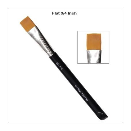 "3/4"" GLOBAL ACRYLIC BRUSH FLAT"