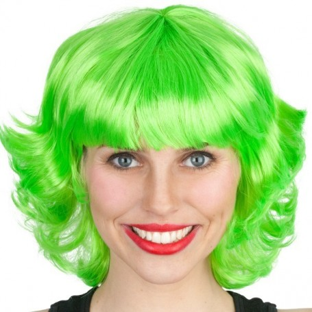 Frenchy Lime Green Wig