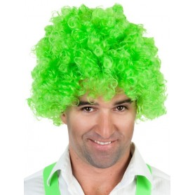 Afro Green Wig