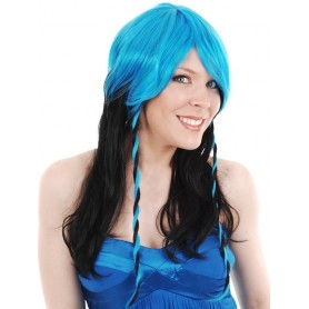 Astra Blue and Black Wig