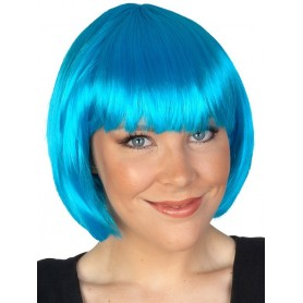 AQUA BLUE - Paige Bob with Fringe Wig