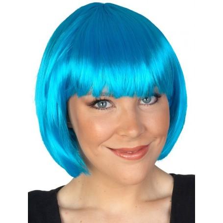 AQUA BLUE - Paige Bob with Fringe Wig