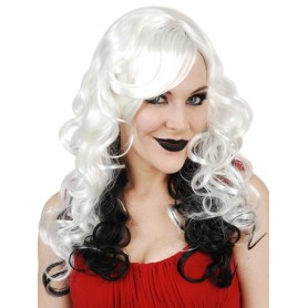 Celia Long Platinum with Black Wig