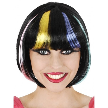 Penelope Bob Black with Coloured Streaks