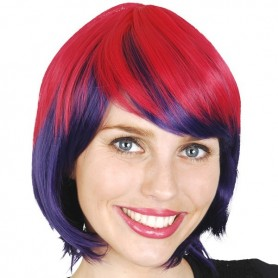 Fantasia Pink and Purple Wig with Fringe