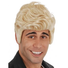 Kenickie Blonde Wig with Sideburns
