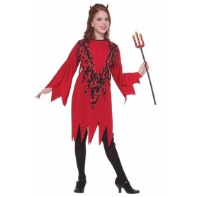 Girls Flames Devil Costume