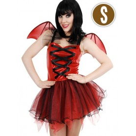 Devil Dress & Wings Red Small