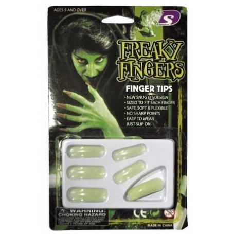 Freaky Fingers Halloween Fake Nails - Glow in the Dark