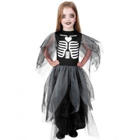 Skeleton Witch Dress Black (5-8 yrs)