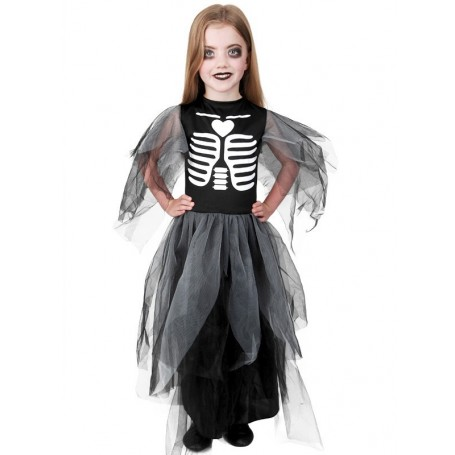Skeleton Witch Dress Black (5-8 yrs)