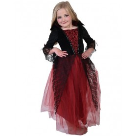 Vampiress Dress Red & Black (5-8 yrs)