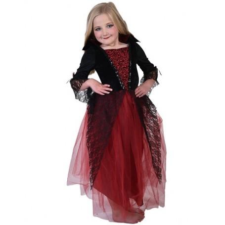 Vampiress Dress Red & Black (5-8 yrs)