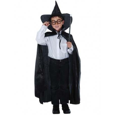 Wizard Set - Cape,Hat, Wand & Glasses Child