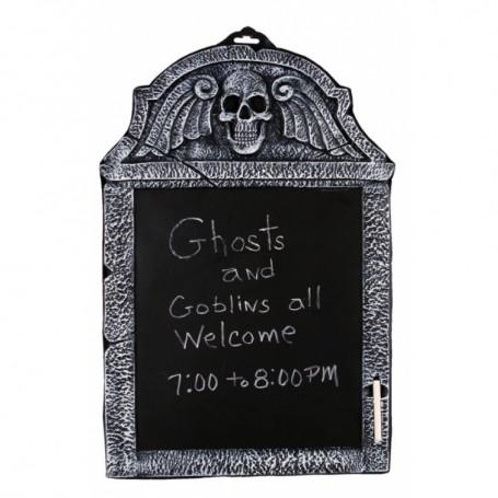 Chalkboard Tombstone - Skull