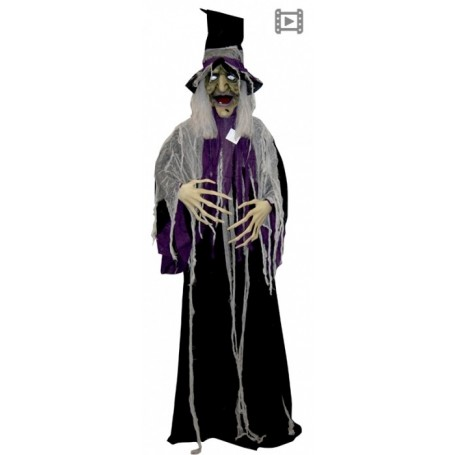 Animated Talking Witch w/Moving Mouth