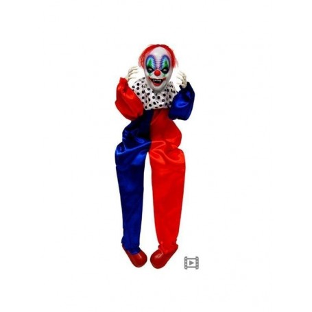 Animated Sitting Clown With Moving Body