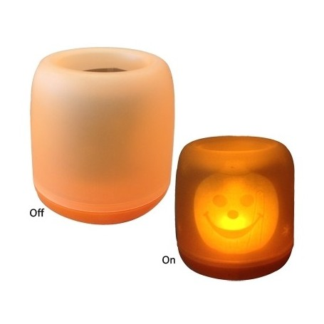 Blow Out Candle Light with Halloween Design