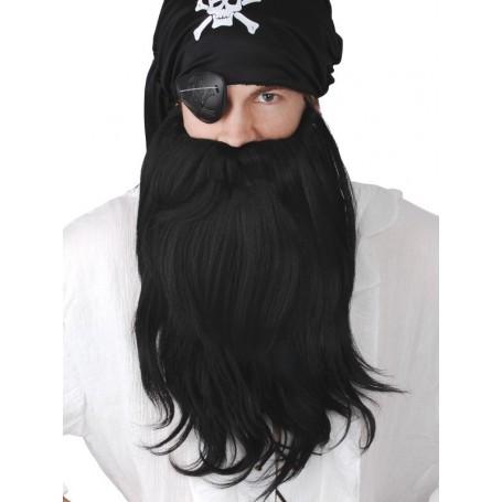 Pirate Beard and Mo Jumbo Set Black