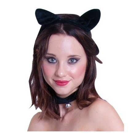 Cat Ear Headband and Collar Set