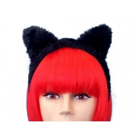 Black Cat Ears On Headband