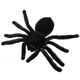 Spider Flocked Black 20cm