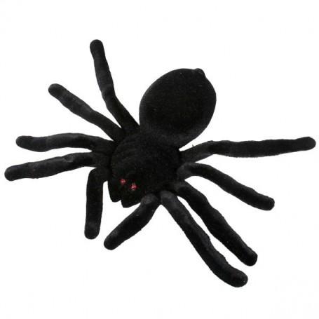 Spider Flocked Black 20cm