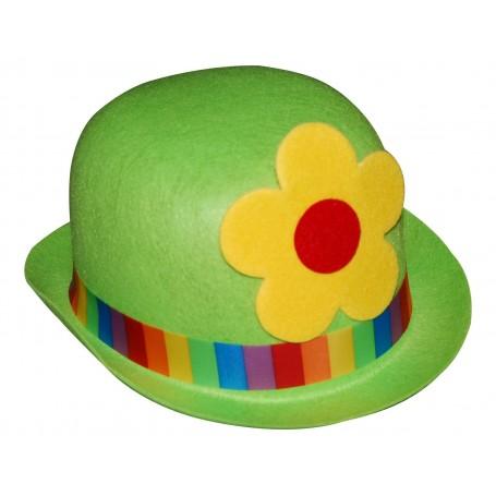 Clown Bowler Costume Hat Green