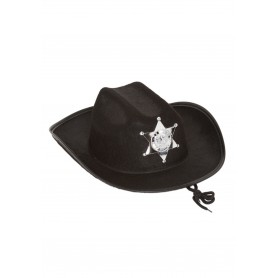 Cowboy Sheriff Hat - Black