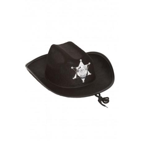 Cowboy Sheriff Hat - Black