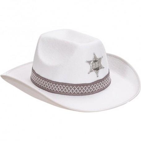 Cowboy Sheriff Hat - White