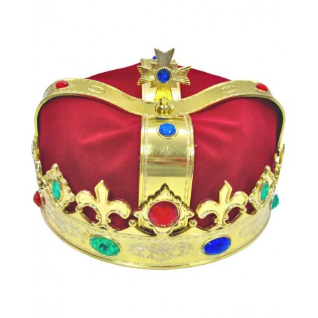 Gold and Red Fabric Royal Crown