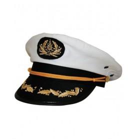 Sailor Captain Costume Hat in White