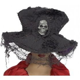 Creepy Grey Skull Hat