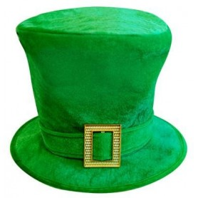 ST Pattys Top Hat with Gold Buckle
