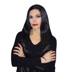 Morticia Long 36 inch - Black Wig