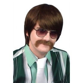 70'S Mod Guy - Brown Wig