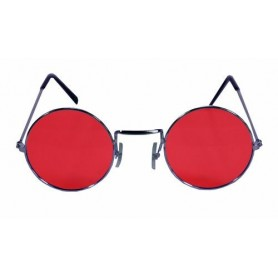 Lennon Round Sunglasses - Red