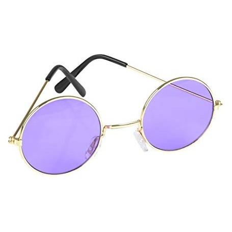 Purple Tint Lennon Glasses One Size