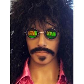 Love Hologram Hippy Sunglasses