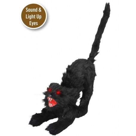 Salem Black Cat with Sound & Lights 30cm