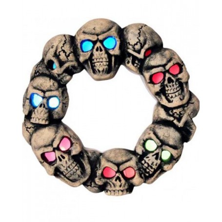 Skull Wreath Light Up Decoration