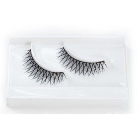 False Eyelashes Natural Criss Cross Design - Black