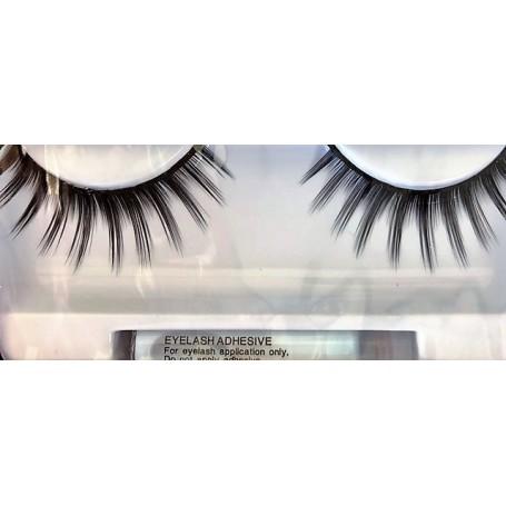 False Eyelashes - Spiky Black