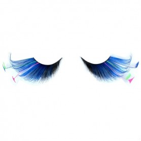 Party Eyelashes - Feather Tip Black & Blue