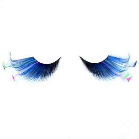 Party Eyelashes - Feather Tip Black & Blue