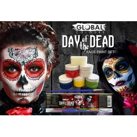 Day Of The Dead Face Paint Set - 125 ml