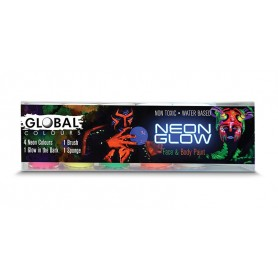 Neon Glow Face and Body Paint Set